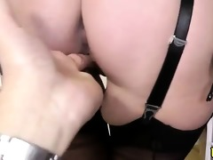 mature stockinged maid eaten out