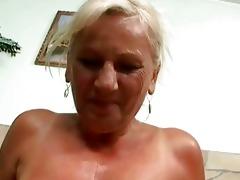 naughty busty granny in hard pov act