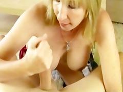 blonde mama sucks off her godsons large boner