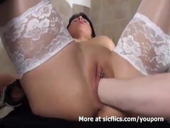 golden-haired mother i fist drilled in her