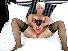 blonde cougar sextoy masturbation