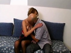 slutty older in nylons can