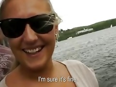 busty blond mother i is drilled on the pier