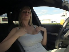 breasty carol goldnerova drives around