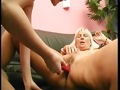 old and juvenile lesbian babes enjoys the sex-toy