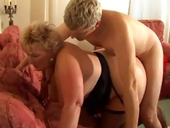 golden-haired shorthair large pretty woman-granny