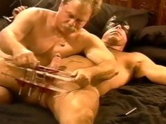 cbt squeezing my curly hunks balls in vise as hes