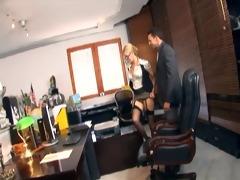 secretary fucking in nylons and stilettos