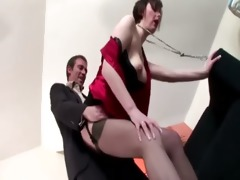 naughty aged brit non-professional in nylons