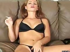 masturbating smokin