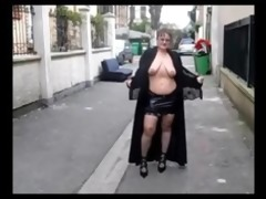 old big beautiful woman exhibitionist big
