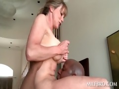 blonde older mom copulates darksome penis