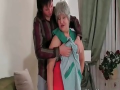 breasty bulky aged bitch receives juicy beefy