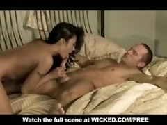 oriental milf with small-tits orgasms when