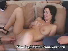 hungry wife feeds on fresh ramrod
