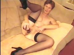 dilettante older uk wife playing with dark sex