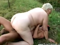 granny rides juvenile shlong