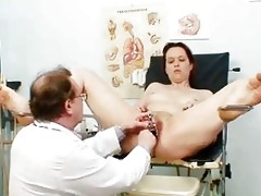 older dilettante wife at pervy gyno doctor
