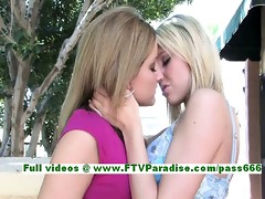 lilah and cadence angelic lesbo babes giving a