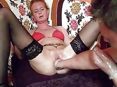 fist fucking the wifes biggest slit untill she is