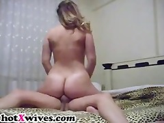 ideal wife with round booty receives fucked