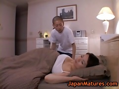 older bigtit miki sato masturbating on sofa 4 by