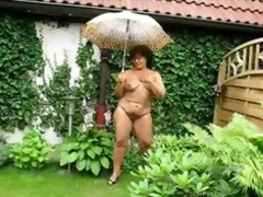 chubby granny in the garden older older porn