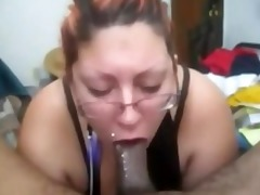 slut gaging on dong