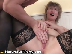lascivious aged woman receives her soaked vagina