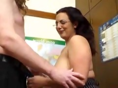 sexy mature black brown with natural saggy bra