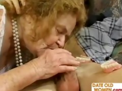 granny receives three-some raunchy act