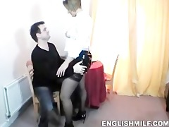 daniella english waitress receives fucked