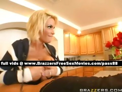 hawt blond older whore in the kitchen