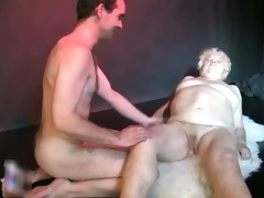 naughty old slut receives her bawdy cleft pounded