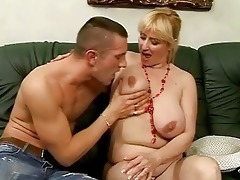 lusty breasty granny fucking with youthful chap