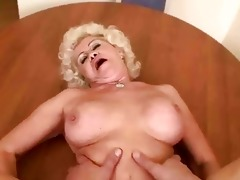 naughty granny receives drilled in pov