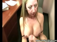 aged lady lets a chap jerk off on her sillicone