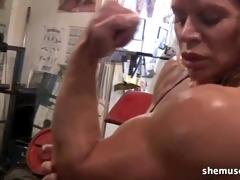 hot aged blond workout