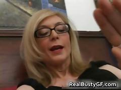 blond mamma in glasses licking stiff part8