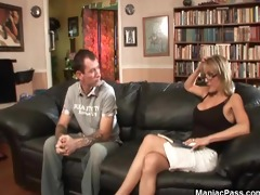 blond mother i in for a facial