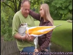 granddad love juvenile blonde teen -