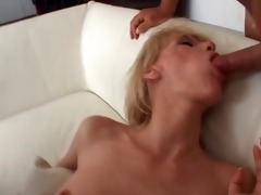 chic german lady parks dongs in her cock-garage