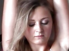 blond mother i hanka is bound up and caressed