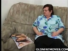 obese mature woman masturbating on the bed