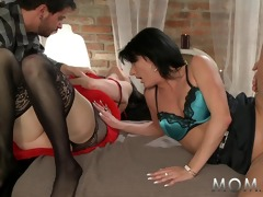 mama aged swingers take turns
