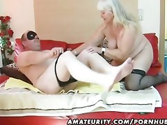 overweight dilettante wife sucks and copulates on