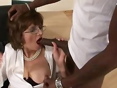 lady sonia acquires interracial engulfing jocks
