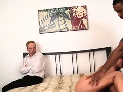 blond wife humiliates spouse with darksome