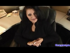 breasty boss acquires wicked creampie