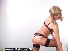 slutty older housewife stripping part5
